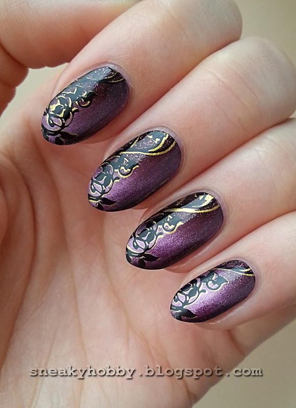Masura Magnetic Polish & Double Stamping  nail art by Mgielka M