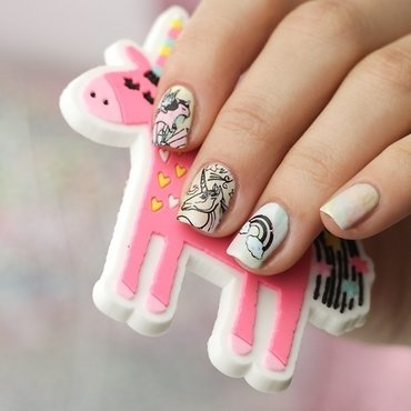 Unicorn Nails nail art by Sabrina