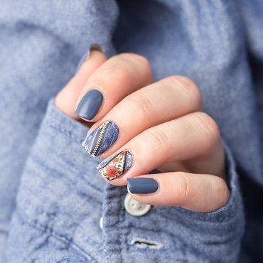 Jeans Look nail art by Sabrina