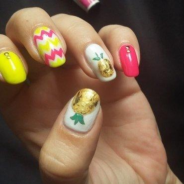neon summer nails nail art by mariejane