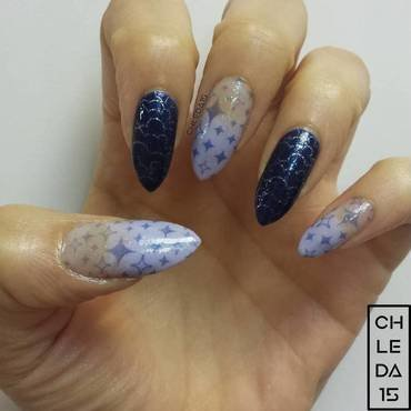 In the Sky with Diamonds nail art by chleda15