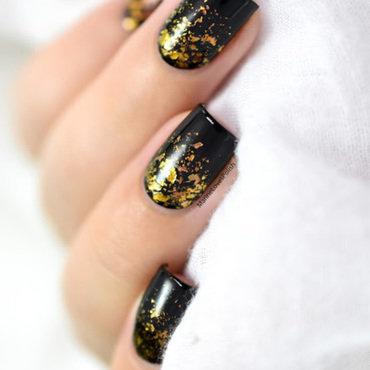 Gold flakies nail art by Marine Loves Polish