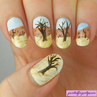 Sossusvlei nails nail art by Kerry_Fingertips