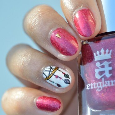 A Plumes / Feather / Nail art Challenge Juin nail art by MimieS Nail