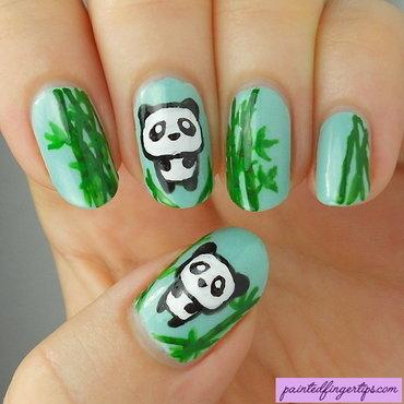 Nail art pandas thumb370f
