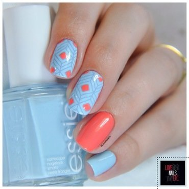 Crazy Geometry nail art by Love Nails Etc