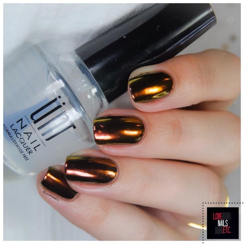 Chrome powder nail art by Love Nails Etc