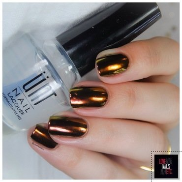 Chrome powder nail art by Love Nails Etc