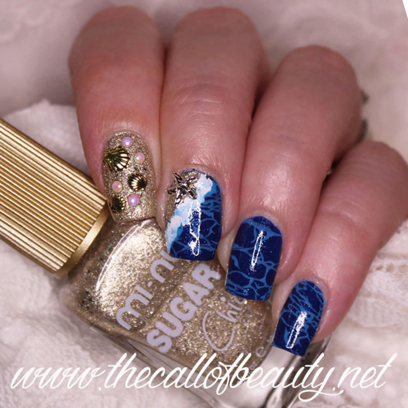 Ocean Life nail art by The Call of Beauty