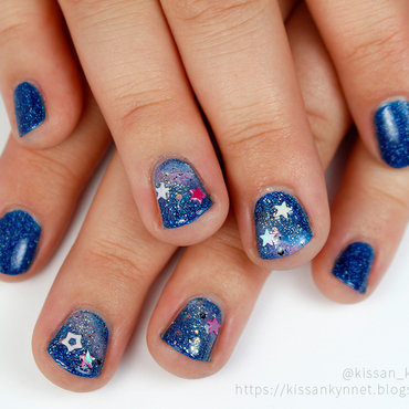 Space bling bling nail art by Yue