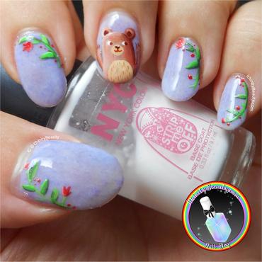 A beary good UV gel polish! nail art by Ithfifi Williams