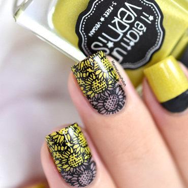 Sunflowers nail art by Marine Loves Polish