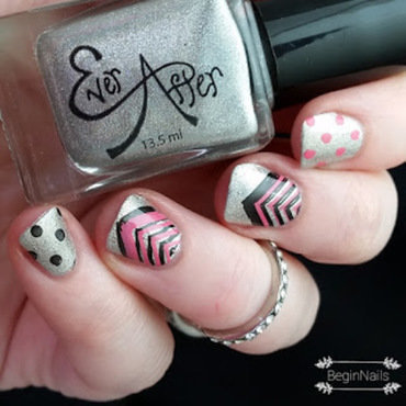 Chevrons and dots by BeginNails nail art by Kerry_Fingertips