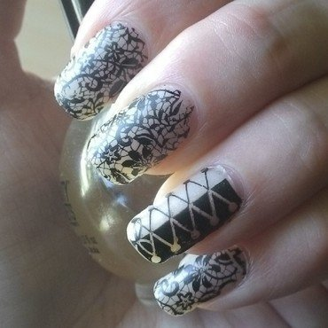 Lace and Corset nail art by Kristyna