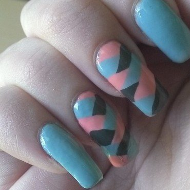 Fishtail nail art by Kristyna