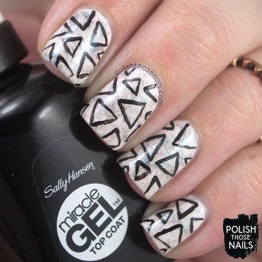 Sally hansen pink duochrome triangle pattern nail art 3 thumb370f