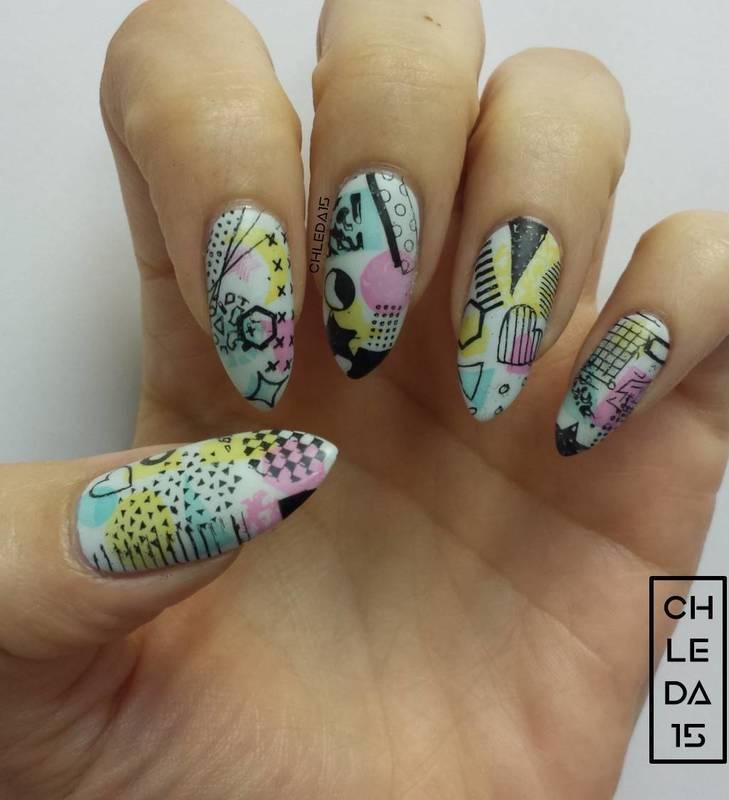 80's Stars nail art by chleda15