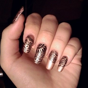 lace inspired nails nail art by Olga Petra
