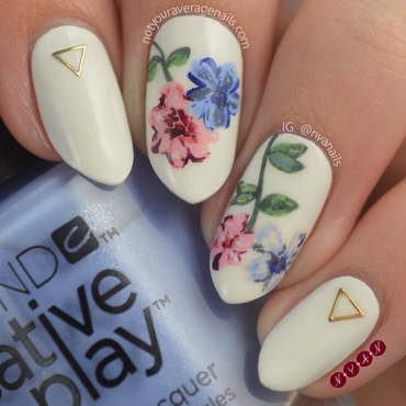 Grad Floral nail art by Becca (nyanails)