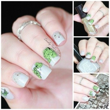 Nail art stamping plantes nail art by Lovely Nail's  Art