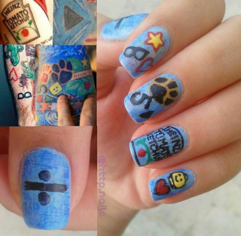 Ed Sheeran Tattoo Nail Art Nail Art By Ceceshortcake Nailpolis