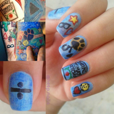 Ed Sheeran Tattoo Nail Art nail art by ceceshortcake