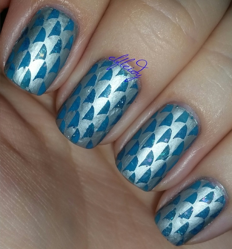 Scales nail art by Jenette Maitland-Tomblin