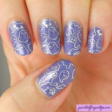 Nail art ghost stamping thumb370f