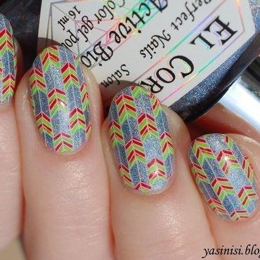 strzałeczki nail art by Yasinisi