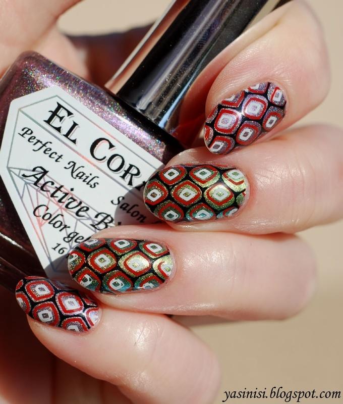 Layered stamping nail art by Yasinisi