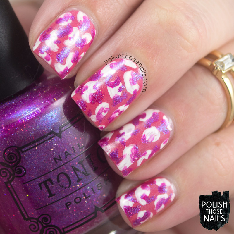 Bright Tonic Spots nail art by Marisa  Cavanaugh