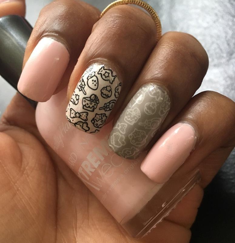 Hey Sweetums nail art by Chloe Jay
