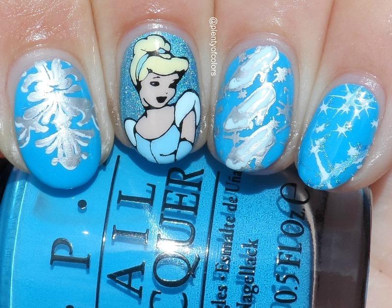 #VillainvsPrincess2 Cinderella nail art by Plenty of Colors