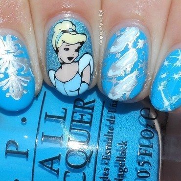 #VillainvsPrincess2 Cinderella nail art by Plenty of Colors
