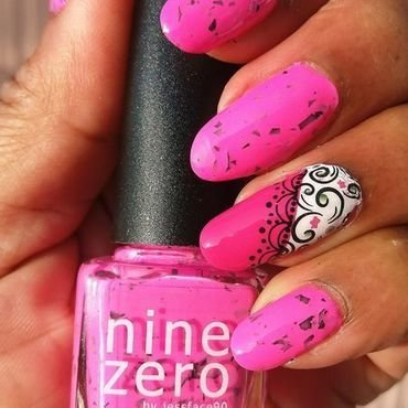 Smoothie Bar Pink nail art by Jackie Bodick