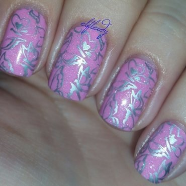 Butterflies nail art by Jenette Maitland-Tomblin