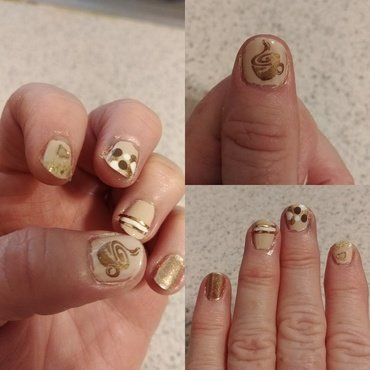 Coffee nail art by Jill Thompson
