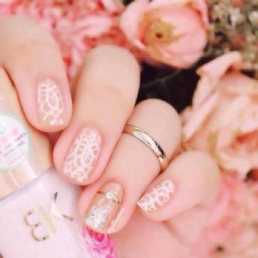 Bridal nail art by ℐustine