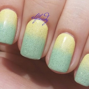 Sparkling lemon-lime nail art by Jenette Maitland-Tomblin