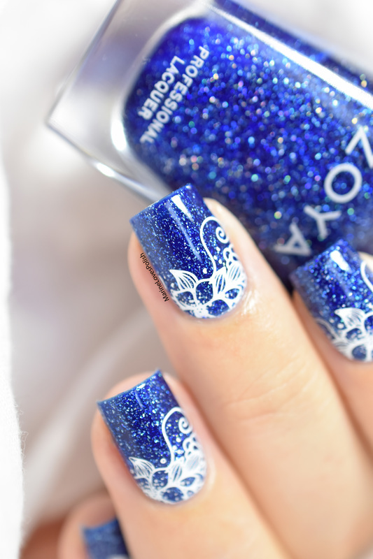 Dream in Bloom nail art by Marine Loves Polish