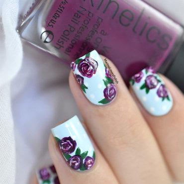 Vintage roses nail art tutorial 20 5  thumb370f