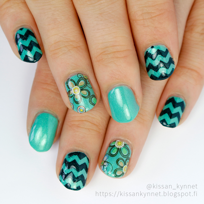 Zigzag nail art by Yue