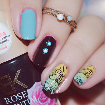 Mix n Match Floral nail art by ℐustine