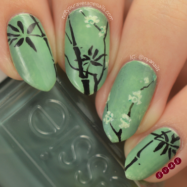Celadon Maebyeong Bottle nail art by Becca (nyanails)