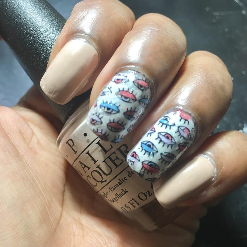 Eye'll Be Watching nail art by Chloe Jay