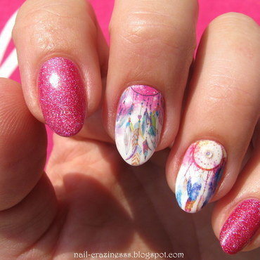 Dream catchers nail art by Nail Crazinesss