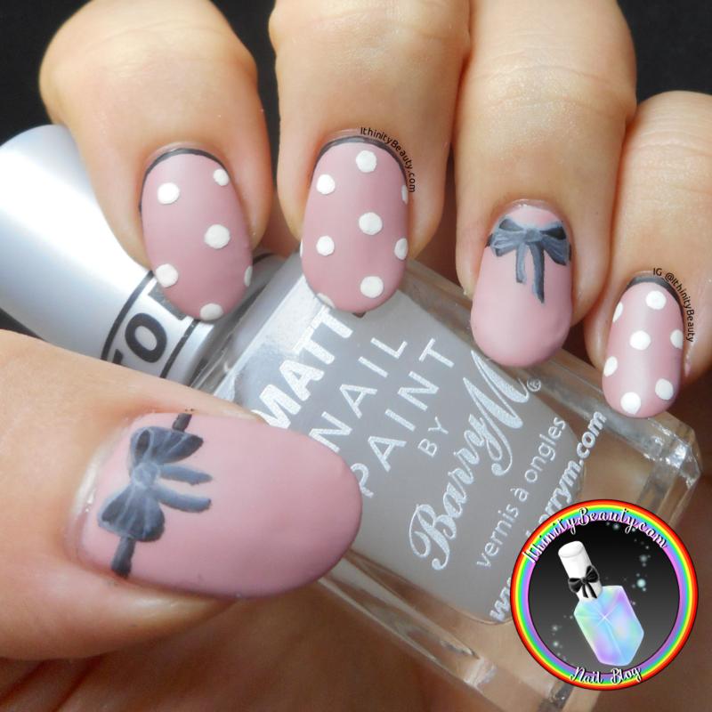 Girly Bows nail art by Ithfifi Williams