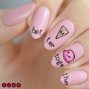 Better Together nail art by Becca (nyanails)