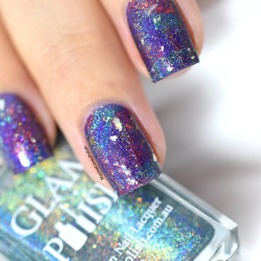 Marbled Galaxy nail art by Marine Loves Polish
