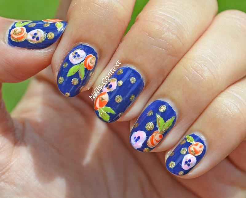 summer florals  nail art by NailsContext